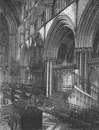 WORCS. Choir of Worcester cathedral 1898 old antique vintage print picture